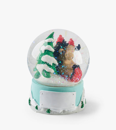 Sledding Friends Mini Snow Globe