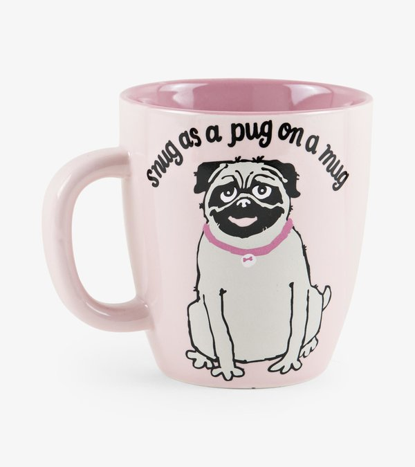 Snug As A Pug Curved Ceramic Mug