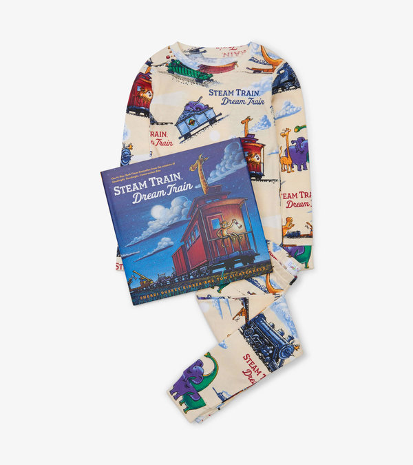Steam Train, Dream Train Book and Pajama Set
