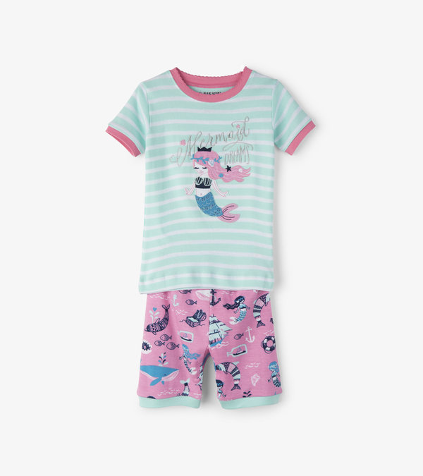 Sweet Mermaid Kids Short Pajama Set