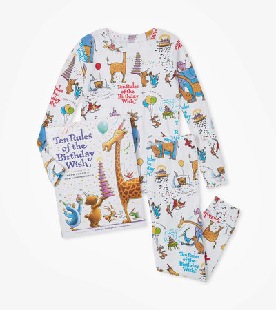 Ten Rules of the Birthday Wish Book and Pajama Set