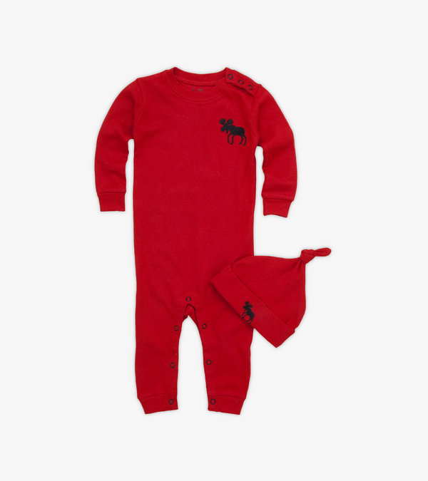 Trailing a Little Behind Baby Coverall with Hat