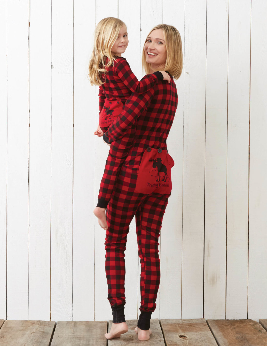"""View larger image of """"Trailing Behind"""" Buffalo Plaid Adult Union Suit"""