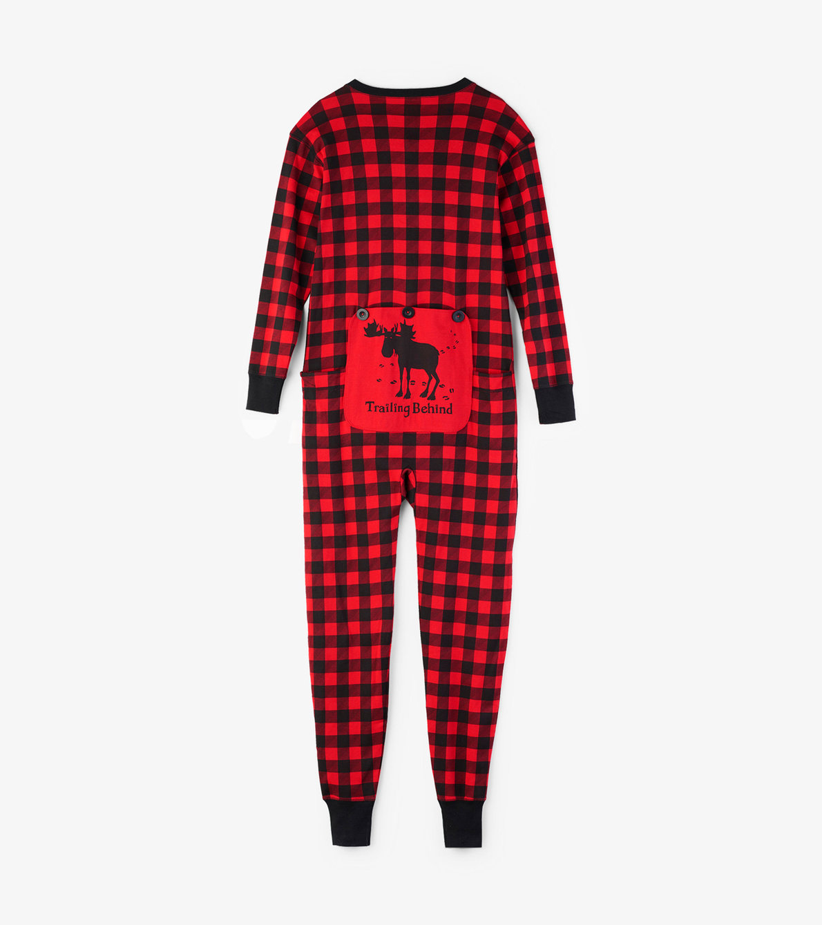 "View larger image of ""Trailing Behind"" Buffalo Plaid Adult Union Suit"