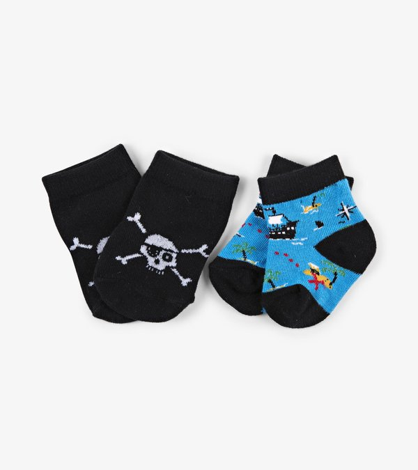 Treasure Island 2-Pack Baby Socks