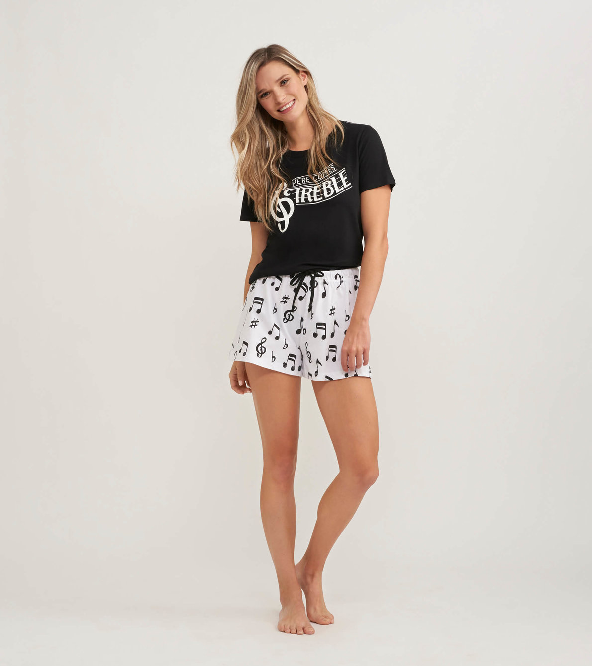 View larger image of Treble Maker Women's Tee and Shorts Pajama Separates