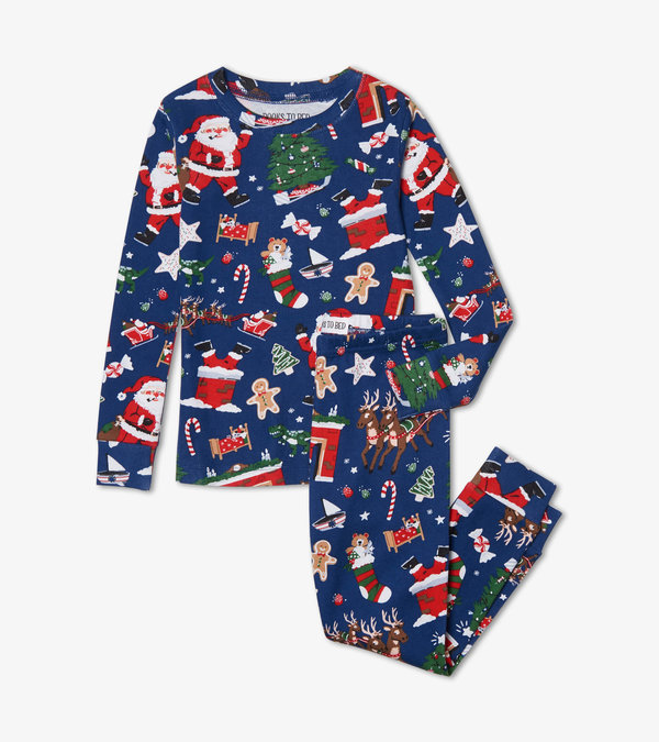 Twas the Night Before Christmas Blue Pajama Set