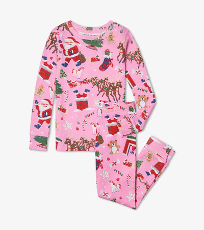 Twas the Night Before Christmas Pink Pajama Set