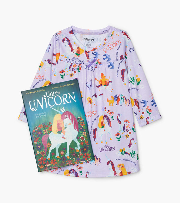 Uni the Unicorn Book and Nightdress Set
