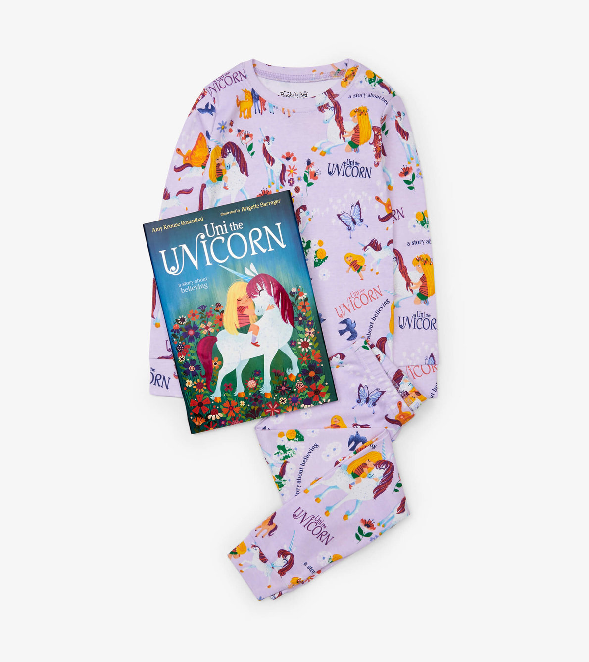 View larger image of Uni the Unicorn Book and Pajama Set