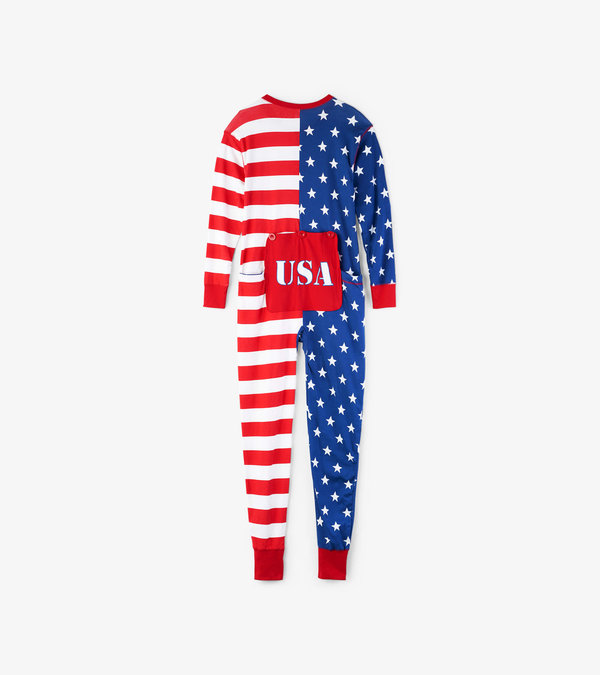 USA Flag Adult Union Suit