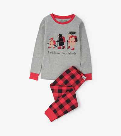 Walk on the Wild Side Kids Appliqué Pajama Set
