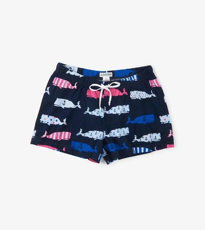 Whales Women's Sleep Shorts