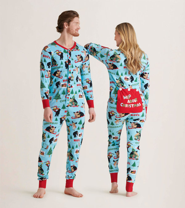 Wild About Christmas Adult Union Suit