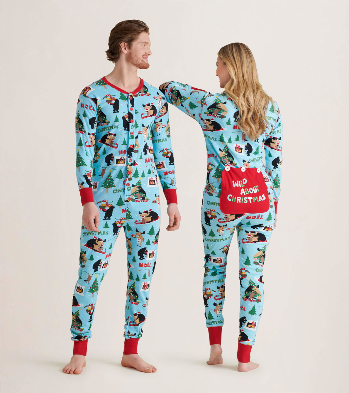 View larger image of Wild About Christmas Adult Union Suit