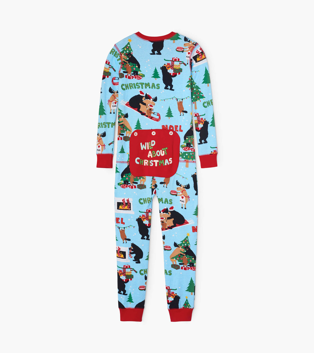 View larger image of Wild About Christmas Kids Union Suit