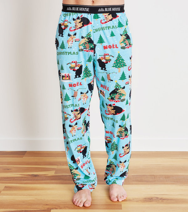 Wild About Christmas Men's Jersey Pajama Pants