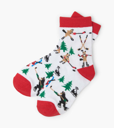 Wild about Hockey Kids Crew Socks