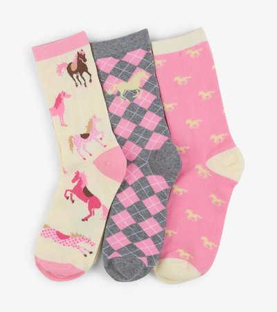 Wild Horses Women's Crew Sock Set