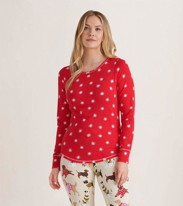 Winter Snowflakes Women's Stretch Jersey Top