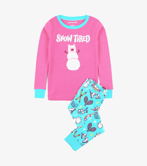 Winter Traditions Kids Appliqué Pajama Set