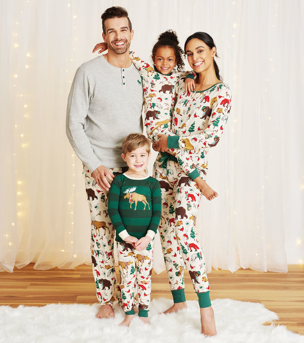 Woodland Winter Family Pajamas