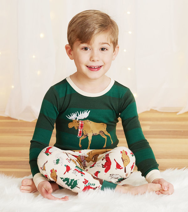 Woodland Winter Kids Appliqué Pajama Set